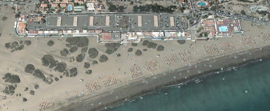 Strand von Playa del Ingles in Google Earth